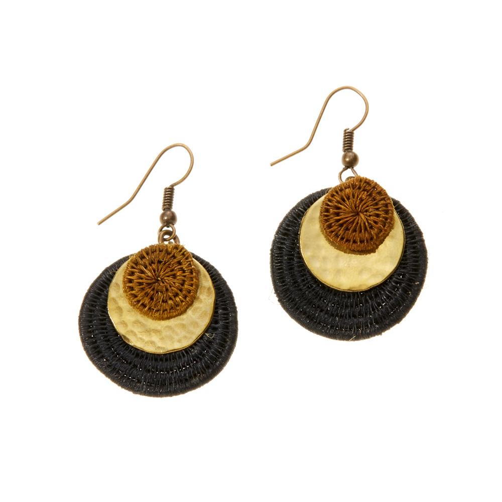 Nandi Layered Disc Earrings