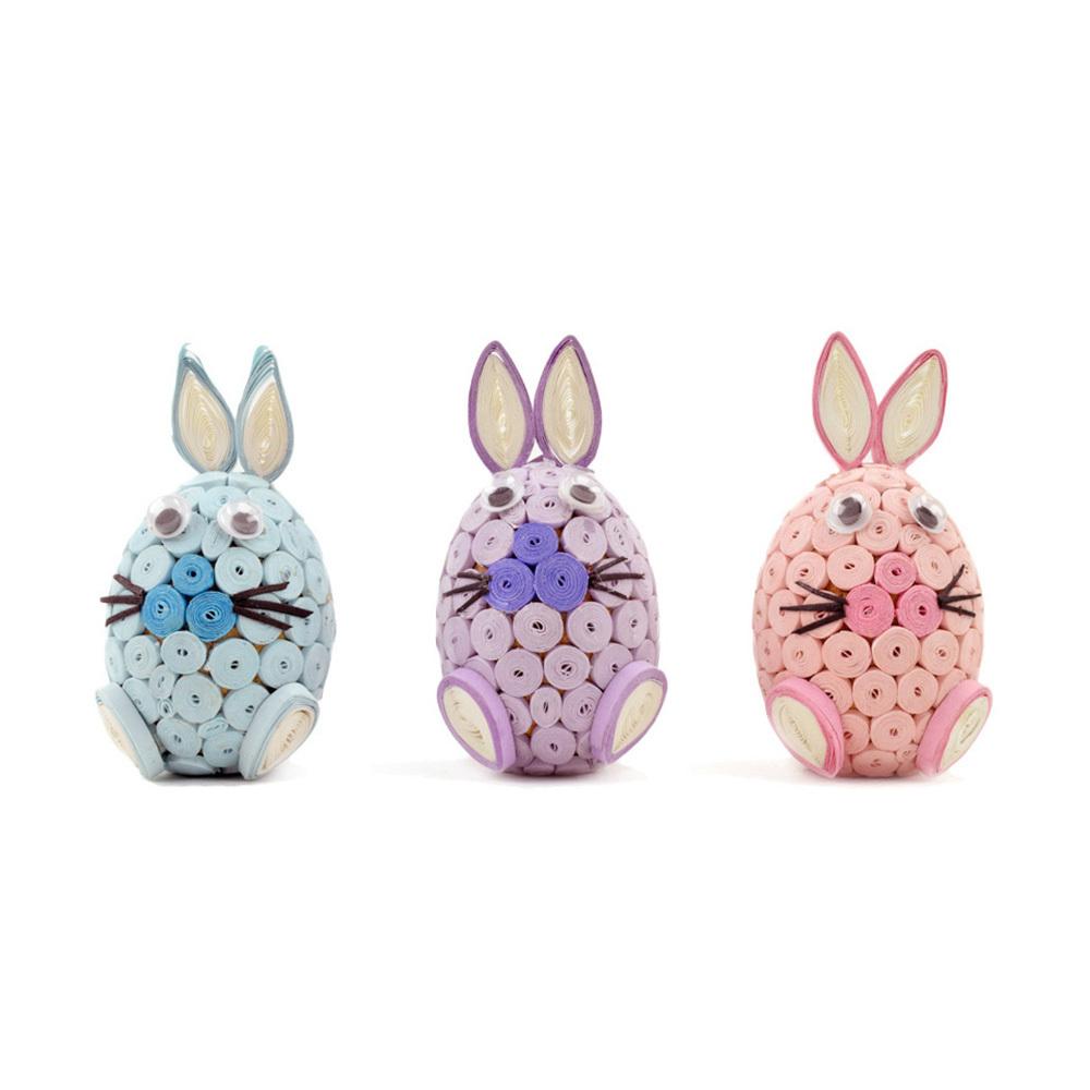 Pastel Quilled Bunny Trio