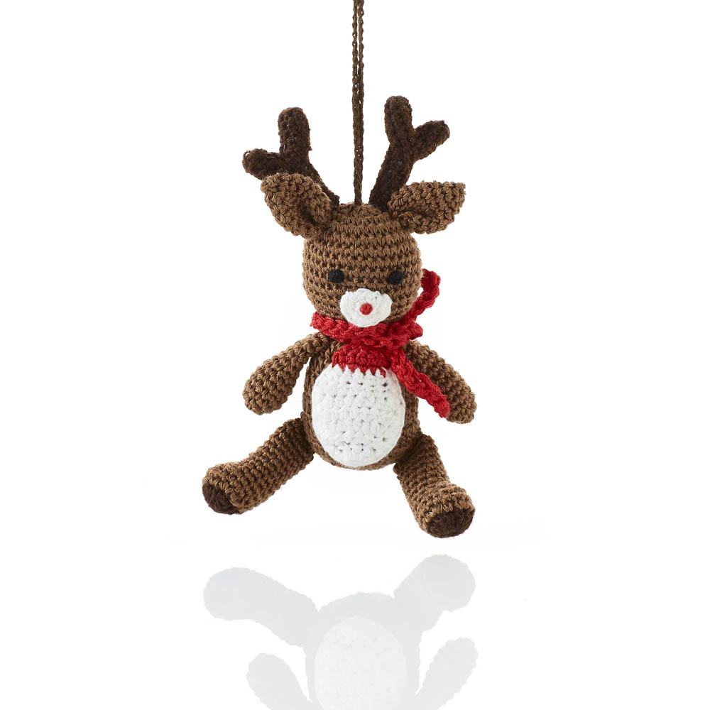 Crocheted Rudolph Ornament