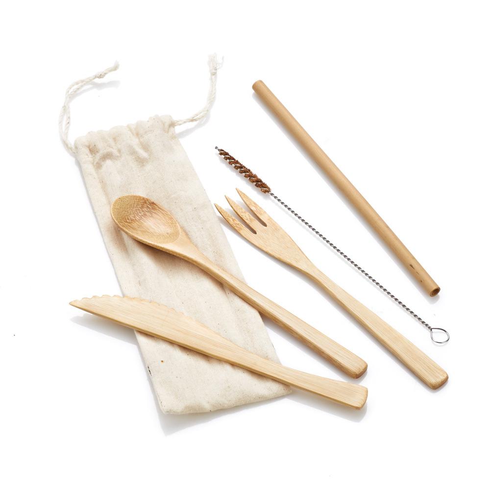 Bamboo Reusable Utensil Set