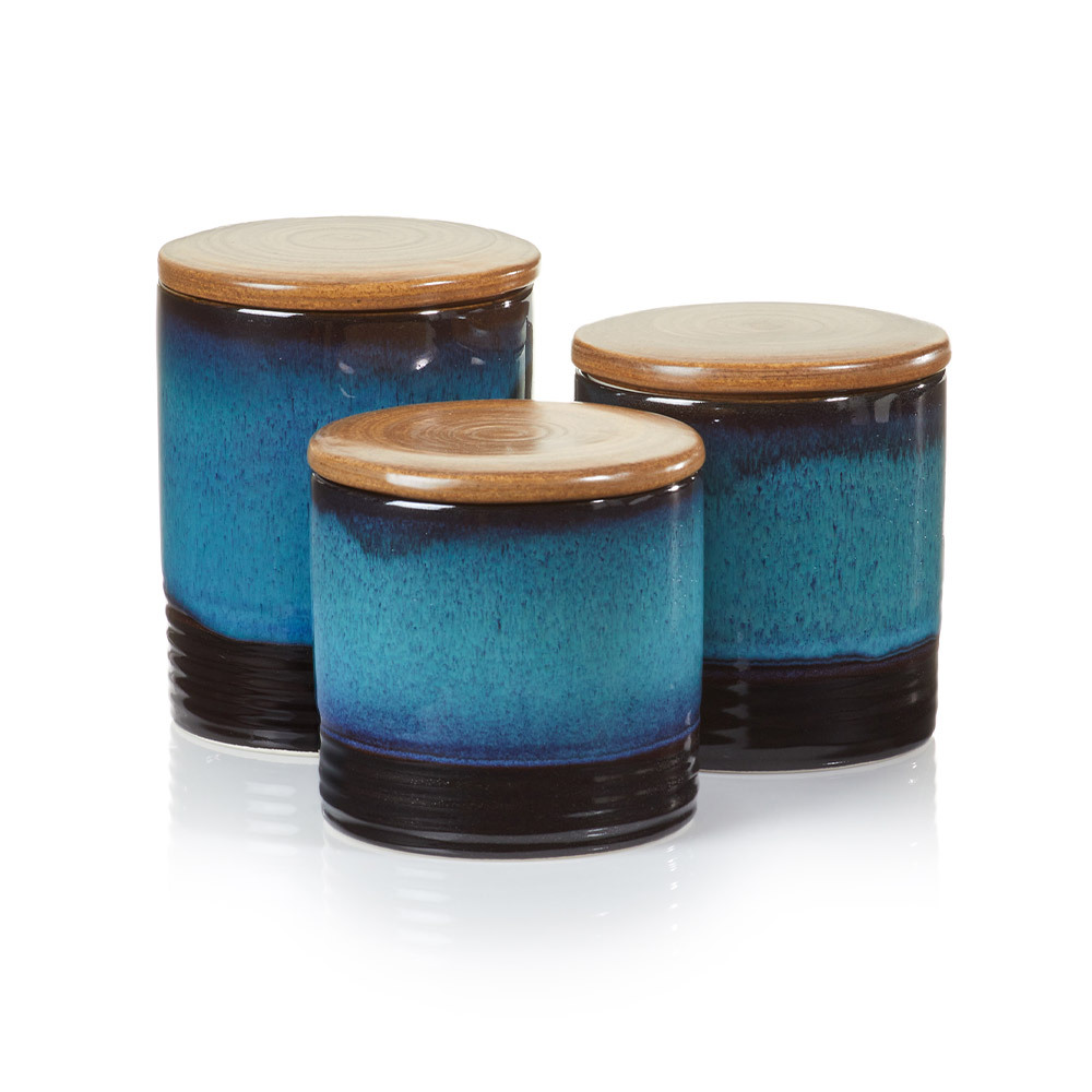Lak Lake Ceramic Canisters - Set of 3