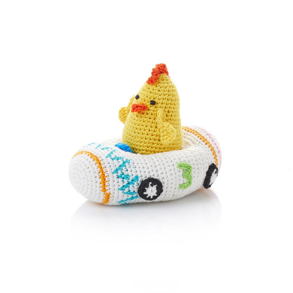 Crocheted Racer Chicken #3