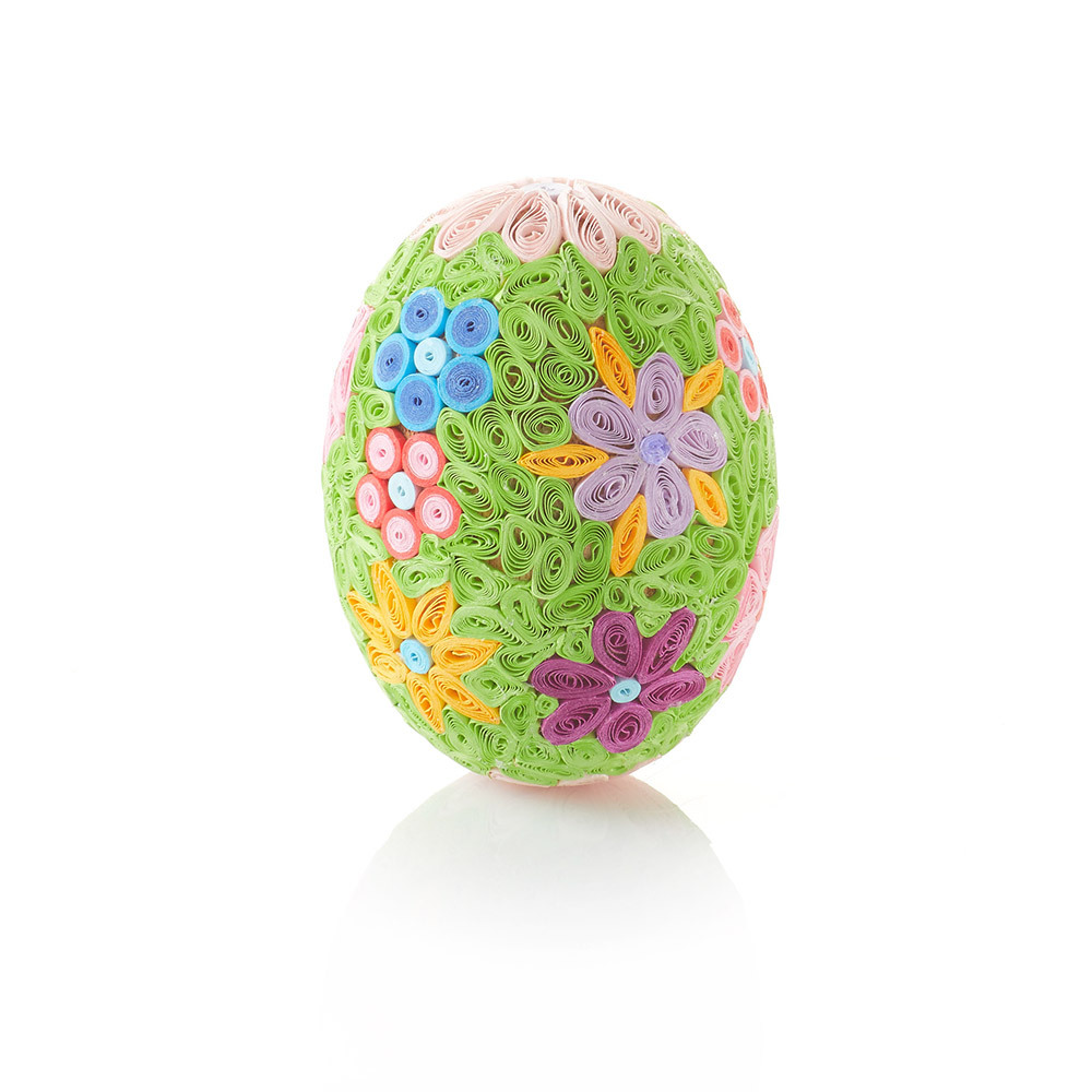 Quilled Grand Meadow Flowers Egg