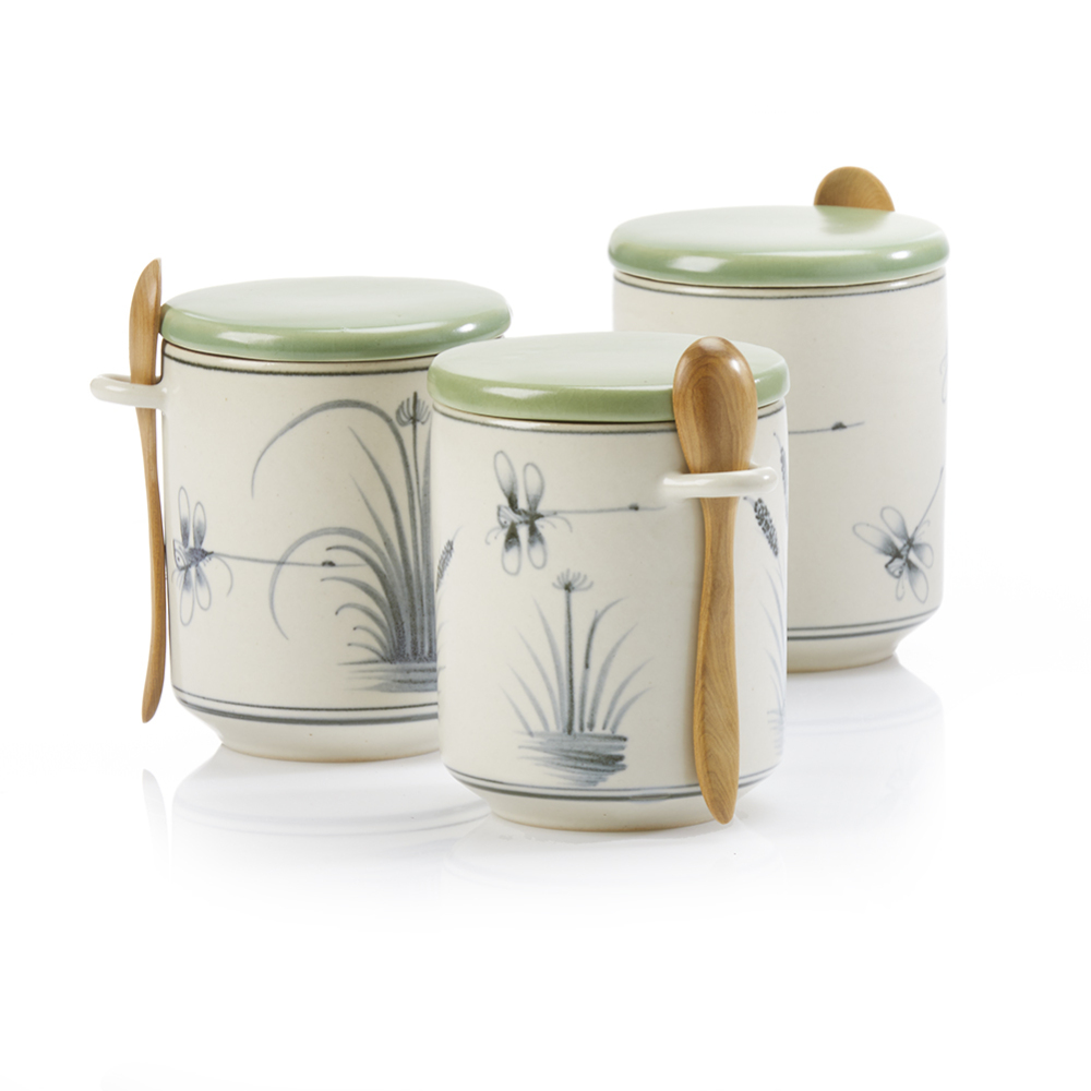 Dragonfly Petite Canisters - Set of 3