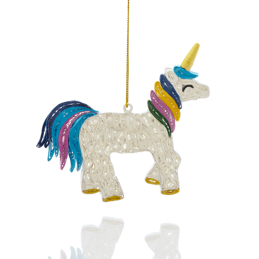 Quilled Unicorn Ornament