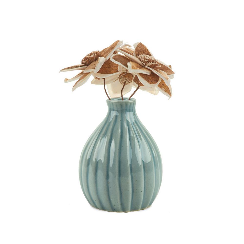 Sola Magnolias with Celadon Vase