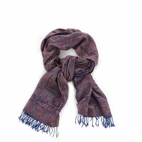 Purple Paisley Kashmiri Shawl