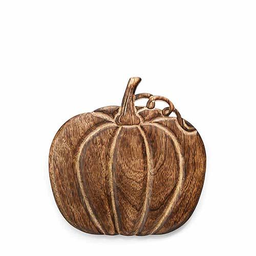 Mango Wood Pumpkin Trivet