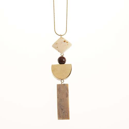 Long Half Moon Pendant Necklace