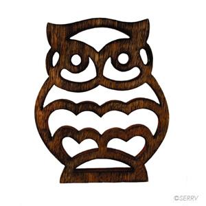 Under 30 Owl Shesham Trivet