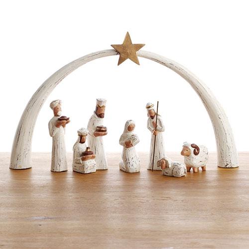 Whitewashed Albizia Nativity