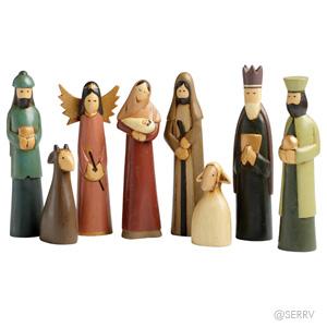 Indonesian Folk Art Nativity