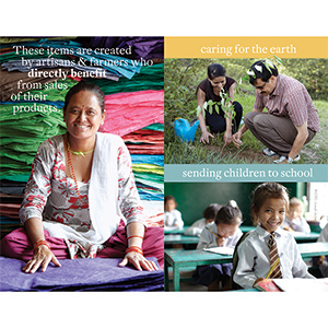 Fair Trade Values Table Signs