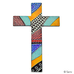 Kenyan Soapstone Wall Cross