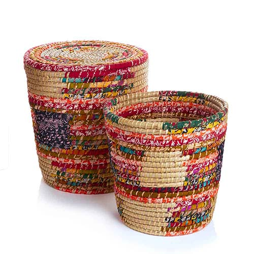 Pop Top Chindi Baskets - Set of 2