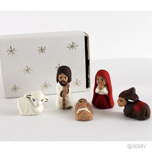 Tiny Matchbox Nativity