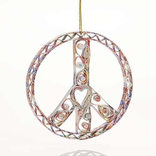 Quilled Peace Sign Ornament