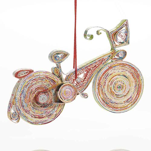 Quilled Bicycle Ornament