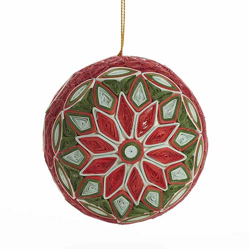 Quilled Red Star Ball