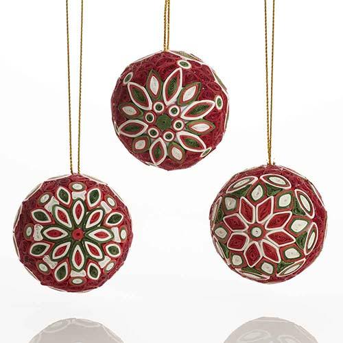 Ornaments Christmas.Quilled Christmas Balls Set Top Picks Serrv International