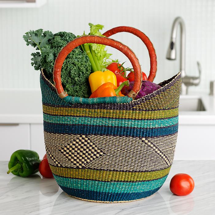 Grasslands Boat Basket