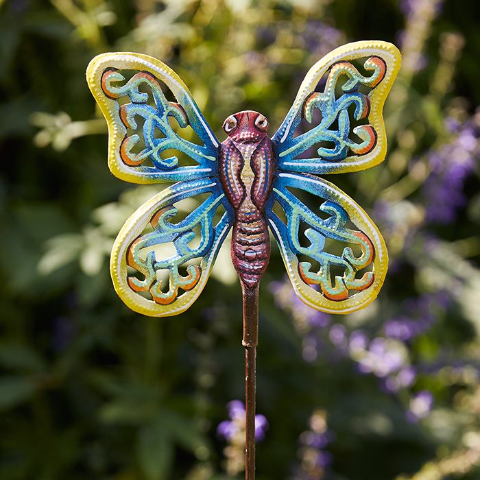 Yellow Wing Butterfly Garden Stake