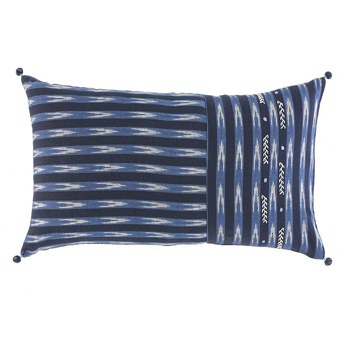 Embroidered Ikat Lumbar Pillow Pillows Rugs Serrv International
