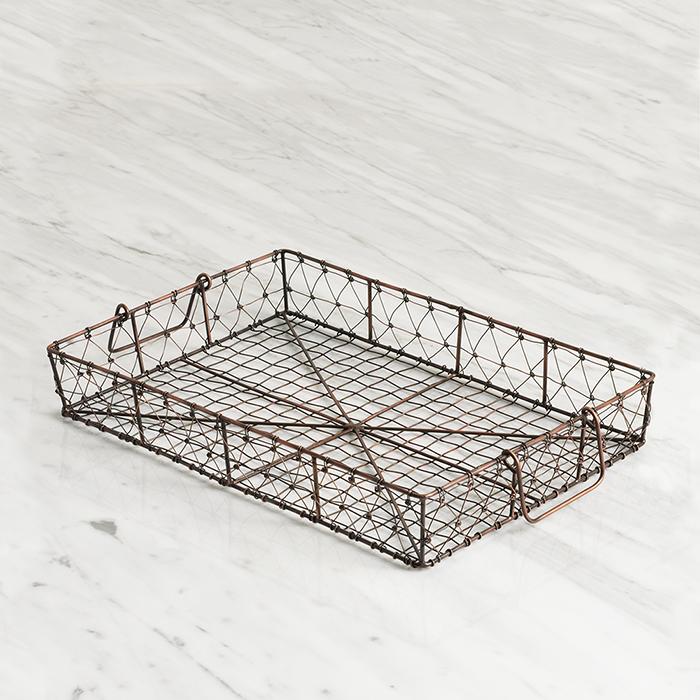 Wire Mesh Tray with Swing Handles, Bowls, Plates & Mugs: Serrv ...