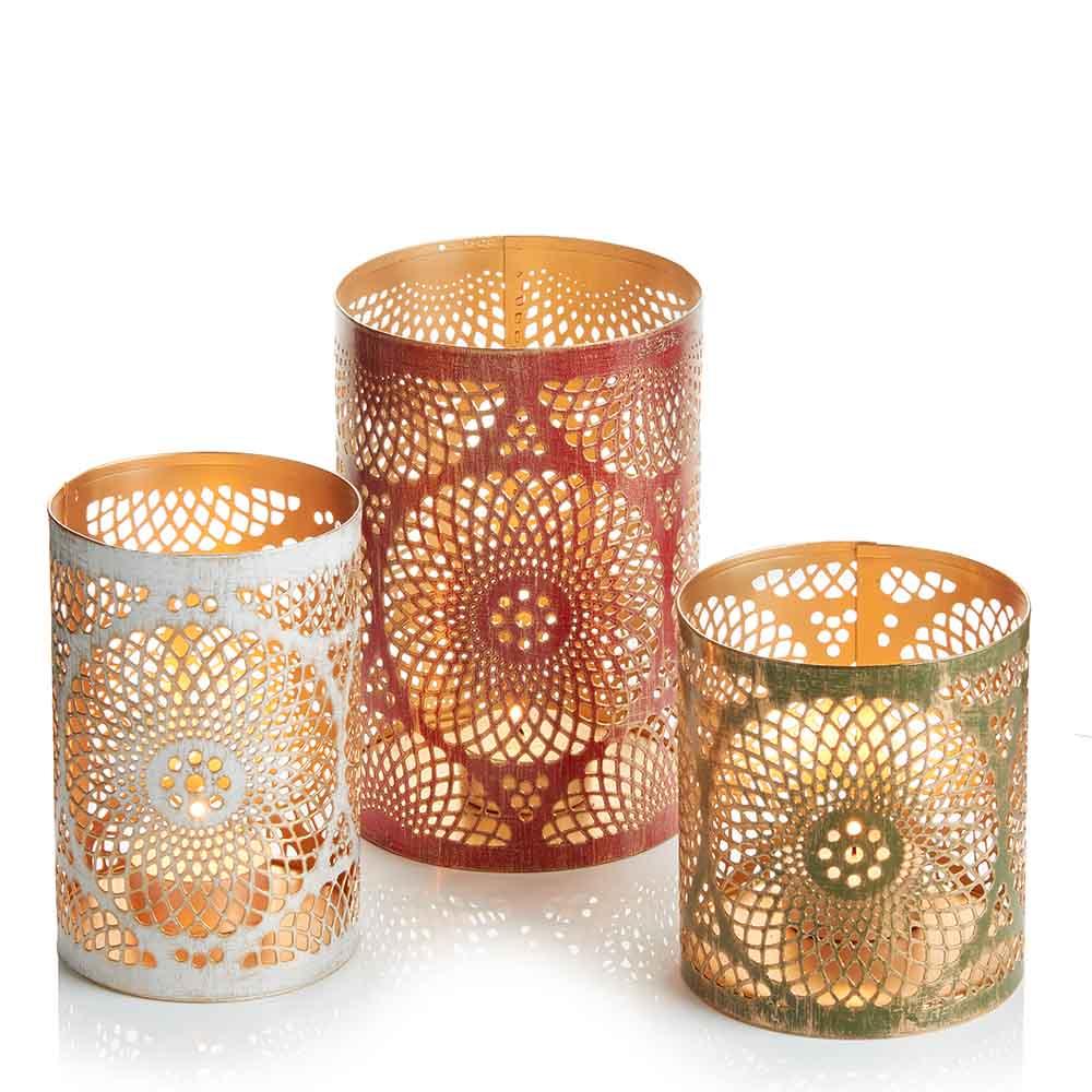 Mandala Lanterns - Set of 3
