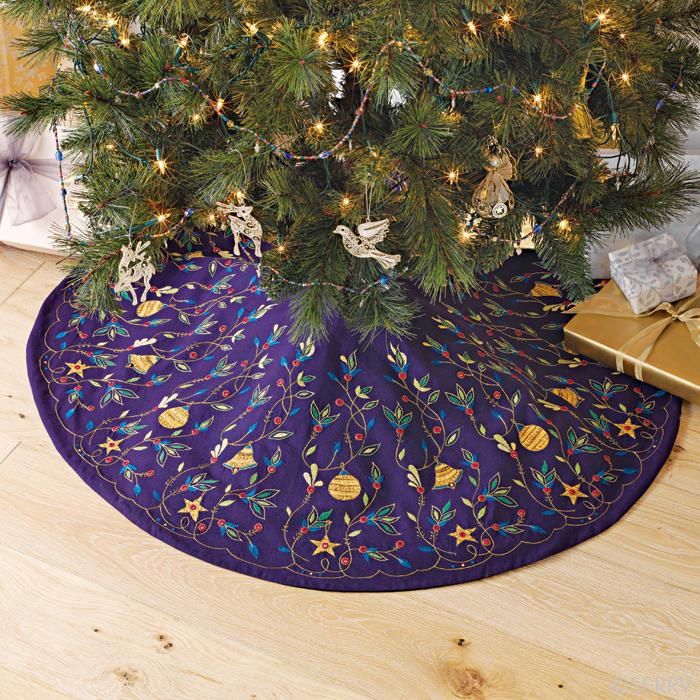 Ornamental Garden Tree Skirt Holiday Decor Serrv