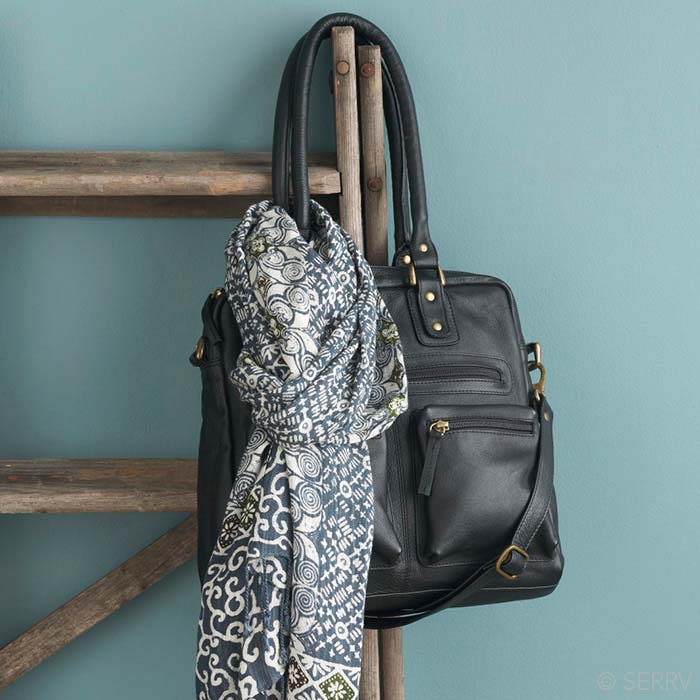 fd01ca03e7 Ebony Leather Purse. Tap to expand
