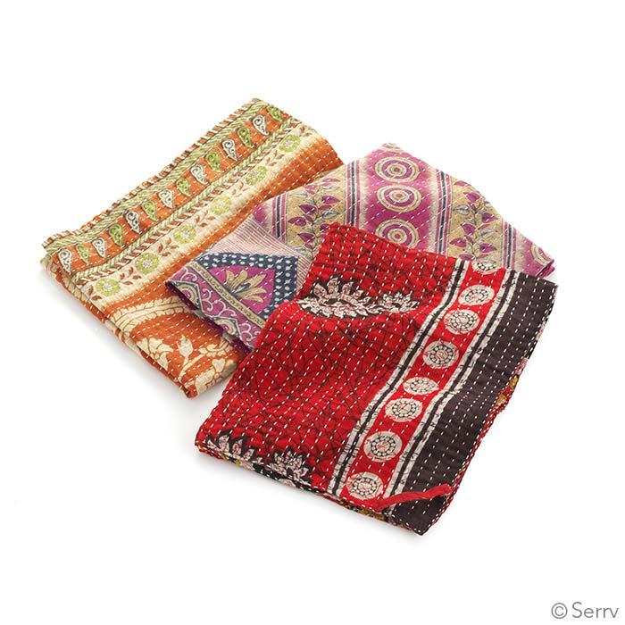Kantha Dish Towels, Set of 3