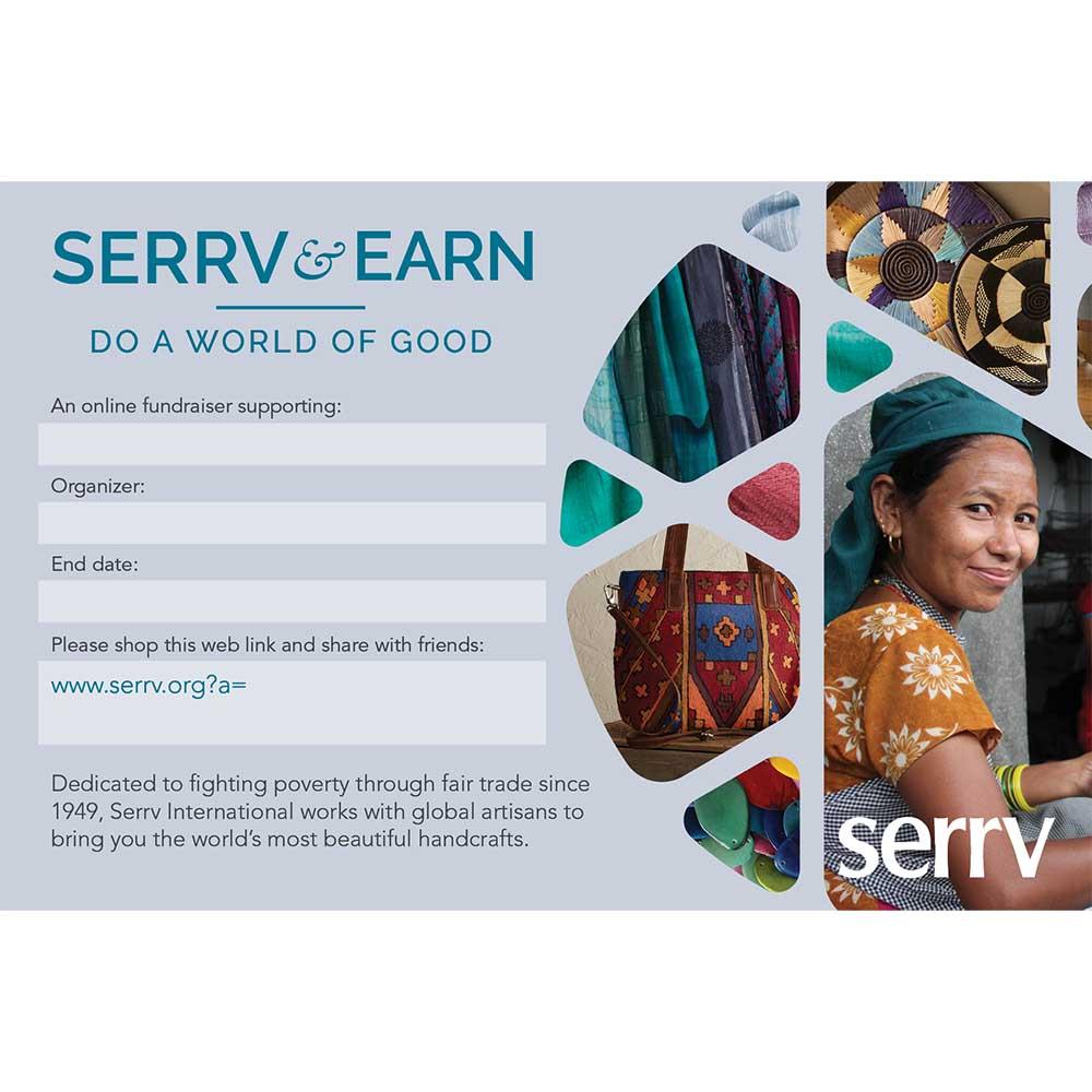 Serrv & Earn Cards - Set of 20