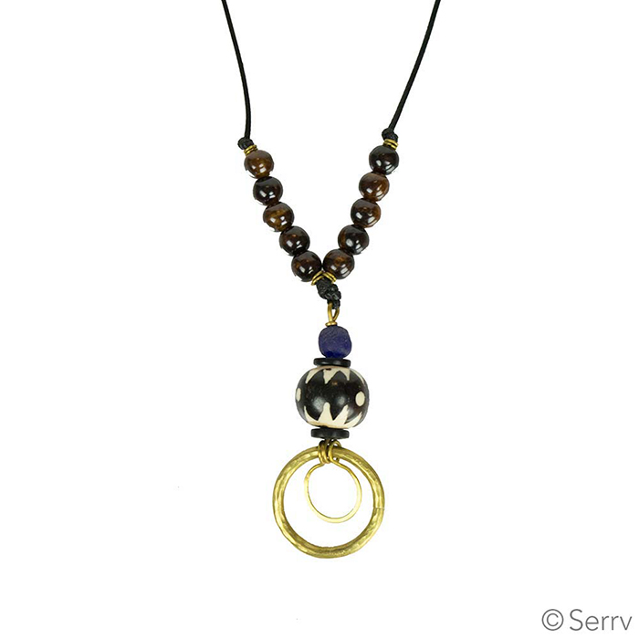 Brass Ring Necklace