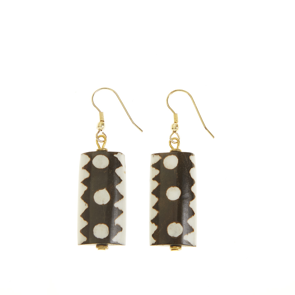 African Batik Drop Earrings