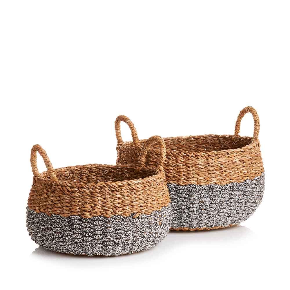 Small & Medium Hogla Two-Tone Baskets