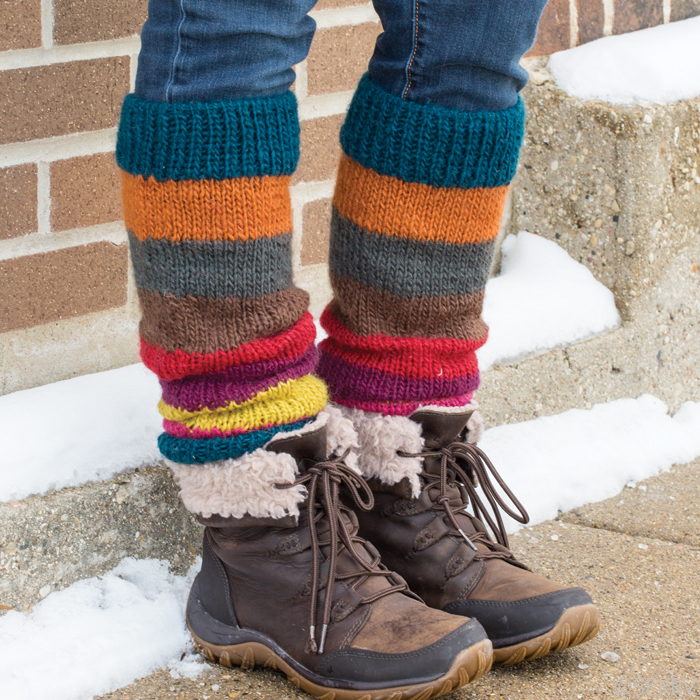 Bright Stripe Himalaya Leg Warmers, Winter Knits: Serrv International