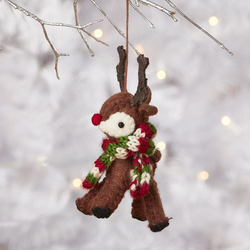Red-Nose Reindeer Ornament, Ornaments: Serrv International