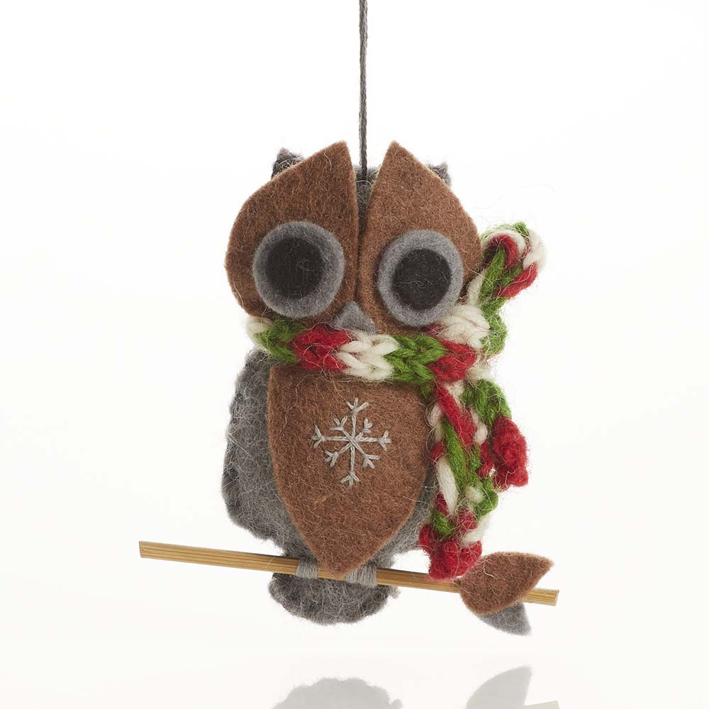 Gray Owl Ornament