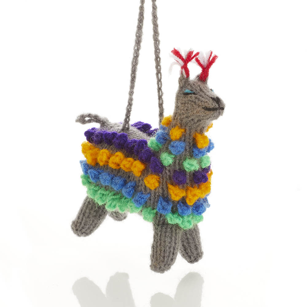 Pom Llama Ornament