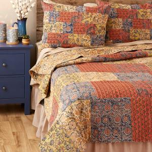 Kalamkari Patchwork Bedding - Queen Quilt