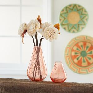 Jaipur Pink Bud Bubble Vases - Short Pink Bud