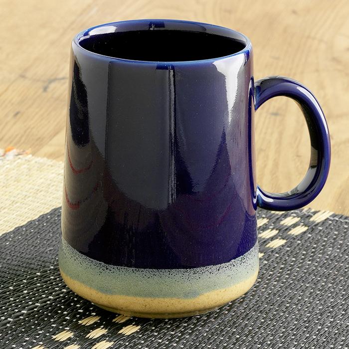 Tall Cobalt Farmhouse Mug