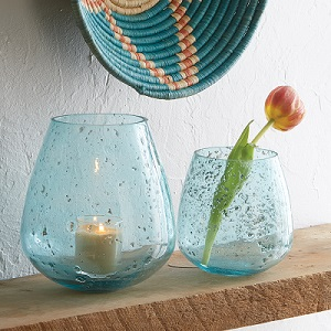Jodhpur Blue Round Bubble Vases - Tall