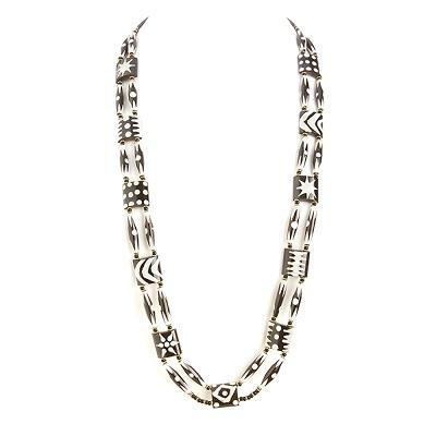 African Batik Long Necklace