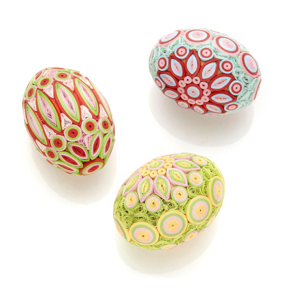 Spring Radiance Quilled Egg Set