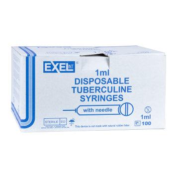 SYRINGE,1CC,25X5/8,TB,LS,100/BOX, EXEL