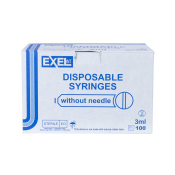 SYRINGE,3CC LS, 100/BOX, EXEL