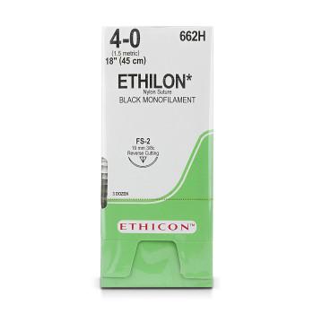 """SUTURE,ETHICON,ETHILON,4-0,FS-2,18"""",36/BX"""