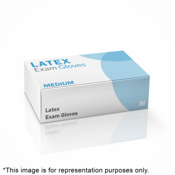 GLOVE,LATEX EXAM,P/F,MED,100/BX